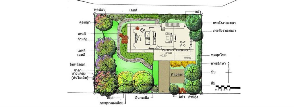 ผลงานนักเรียน 1-เรียนจัดสวน-ออกแบบจัดสวน-เรียน landscape design