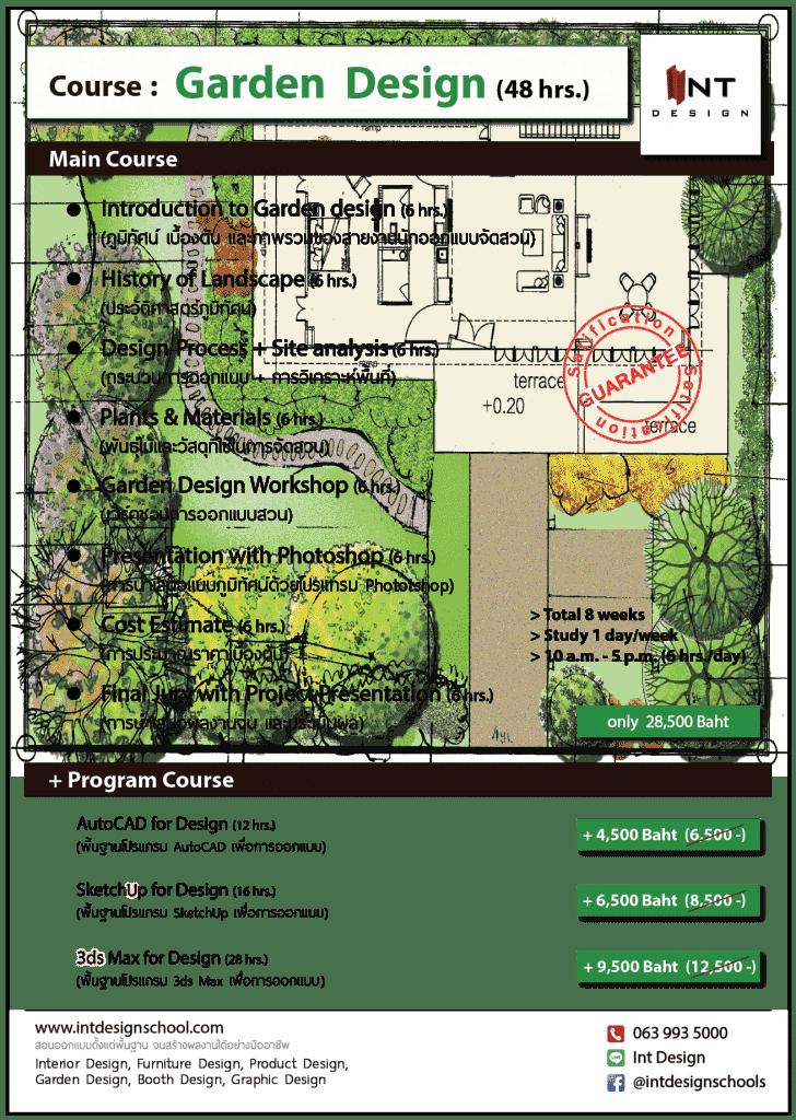 รายละเอียด-คอร์ส-เรียนจัดสวน-เรียนออกแบบภูมิทัศน์-เรียน garden design -เรียน landscape design