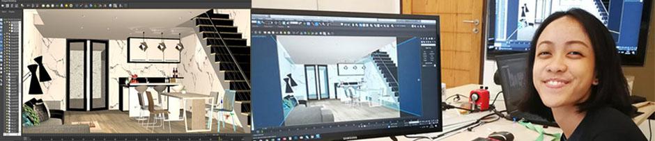 Interior Design Class Photos รูปคลาสเรียน ออกแบบตกแต่งภายใน + โปรแกรม 3ds Max และ AutoCAD