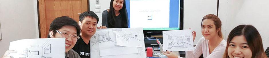 Interior Design Class Photos รูปคลาสเรียน ออกแบบตกแต่งภายใน