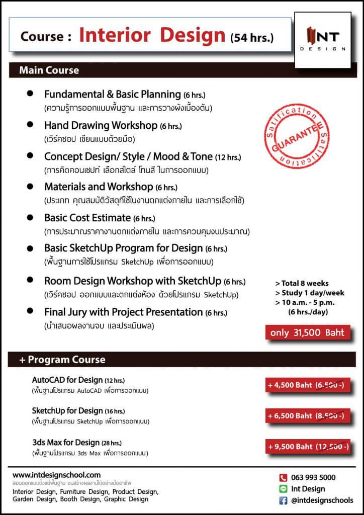 คอร์ส-เรียนออกแบบภายใน-เรียนออกแบบตกแต่งภายใน-เรียน interior-interior design course