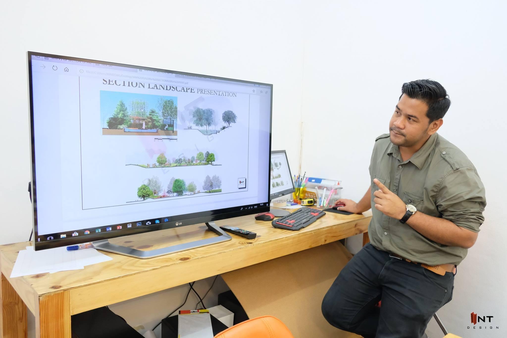 รูปคลาสเรียน landscape design-เรียน garden design-ออกแบบภูมิทัศน์-ออกแบบภายนอก-เรียนจัดสวน